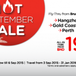 AirAsia Airline Brunei Promotion September 2015 – Book Lowest Air Fares From BND 65