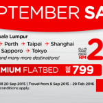 AirAsia Promotion September 2015 – Book Low Fares Online From RM10