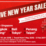AirAsia Airlines Singapore Promotions January 2016