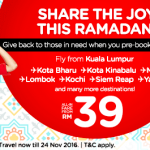 AirAsia Malaysia Airlines Promotions June 2016