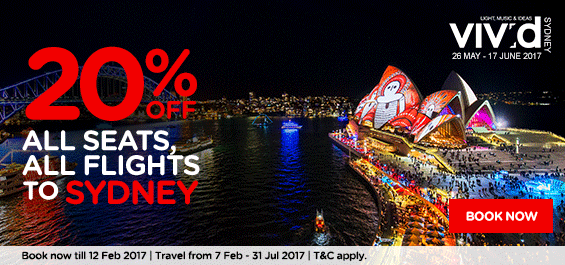 AirAsia tickets discount from Kuala Lumpur to Sydney February 2017
