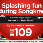 AirAsia Fly from Kuala Lumpur to Chiang Mai Thailand April 2017