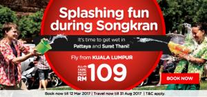 AirAsia Fly from Kuala Lumpur to Chiang Mai Thailand April 2017 - songkrun