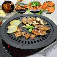 Round Iron Korean BBQ Grill Set