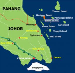 AirAsia Promotions To Johor Bahru September 2017 - Pulau Rawa Map