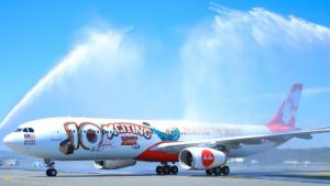 AirAsia X Promotion 10xcitingyears - 10th Anniversary plane