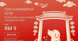 CHINESE NEW YEAR FLIGHT SPECIALS - AirAsia Pawsperous 2018 Promo