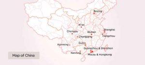 AIRASIA CHINA DESTINATIONS - China Map