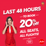 AIRASIA PROMOTION 20% OFF ALL SEATS, ALL FLIGHTS