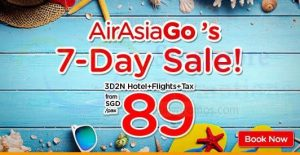 AIRASIA SINGAPORE PROMOTION 2018 - AirAsiaGo 7-Day Sale