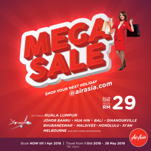 AIRASIA FLIGHT TO BALI -AirAsia Mega Sale
