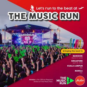 AIRASIA FLIGHT TO SINGAPORE - The Music Run
