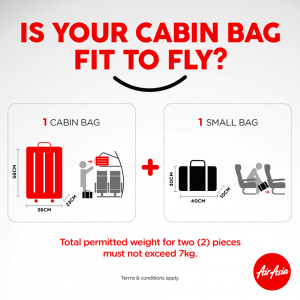 FLY HOME TO VOTE GE14 - AirAsia Cabin Baggage