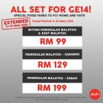 AIRASIA BOOKING ONLINE FOR FLY HOME TO VOTE GE14