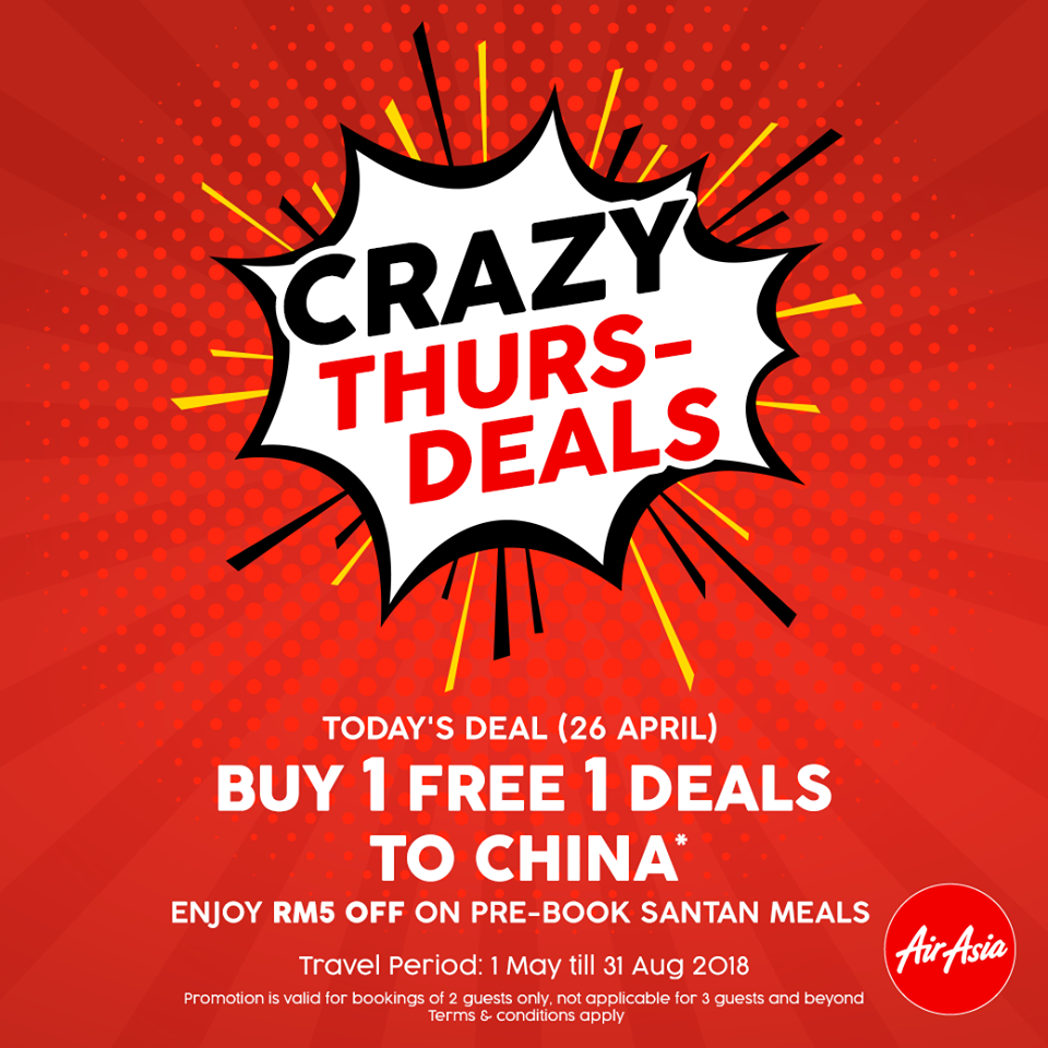 Buy 1 Free 1 Deal To China