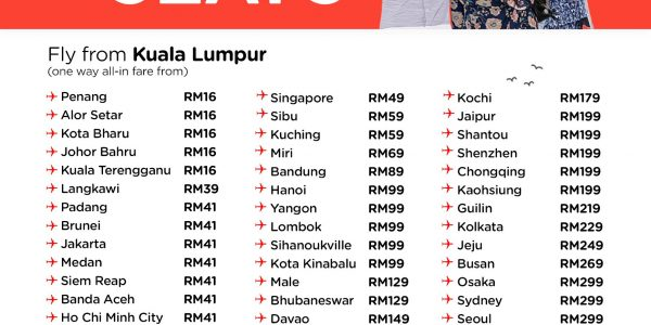 AIRASIA FREE SEATS MAY 2018