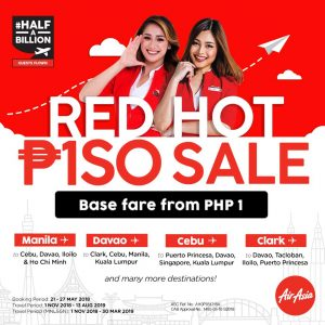 AIRASIA PHILIPPINES PROMO 2018 - Red Hot Piso Sale