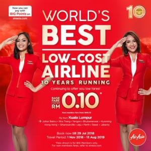 AIRASIA PROMOTION 2018 - AirAsia 10 years