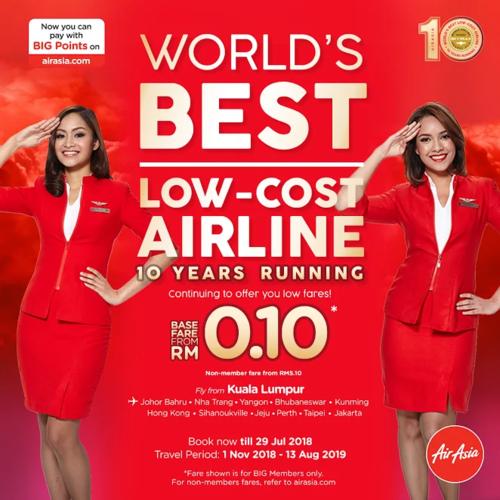 AirAsia 10 years