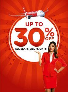 AIRASIA INDIA DOMESTIC FLIGHTS - AirAsia India 30% offer
