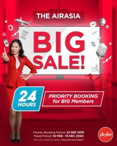 AirAsia BIG SALE 2019 Last Call Priority Booking