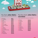 AirAsia BIG Sale Fly From Johor Bahru
