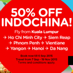 AirAsia Promotion September 2015 – Book Low Fares From RM45