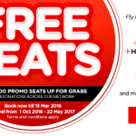 AirAsia Promotions March 2016 | 3 Million FREE Seats !!!