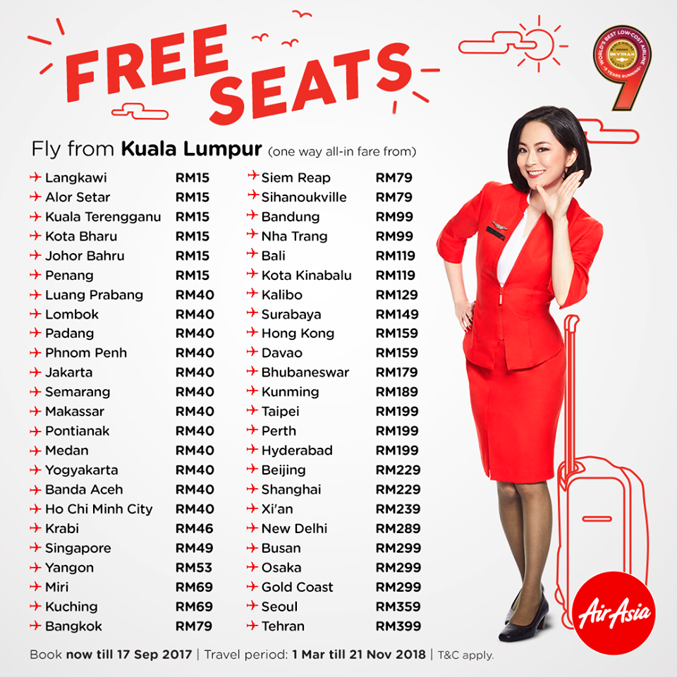 BOOK AIRASIA PROMOTION TICKET – Free Seat Promotion