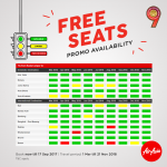BOOK AIRASIA PROMOTION TICKET - free seats promo availability chart