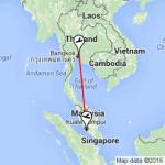 AirAsia Bangkok To Kuala Lumpur Flight 2017 - Bangkok to KL map