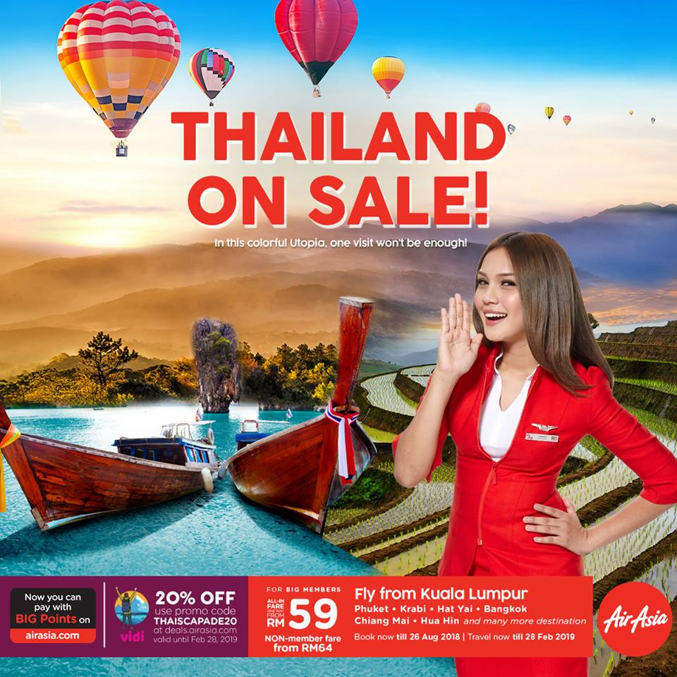 Penang To Phuket Flight Airasia Sale Promotion 2018 Ticket  Air Asia Periode 2019
